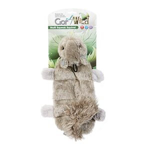 Gor Wild Multi-squeak Squirrel Dog Toy