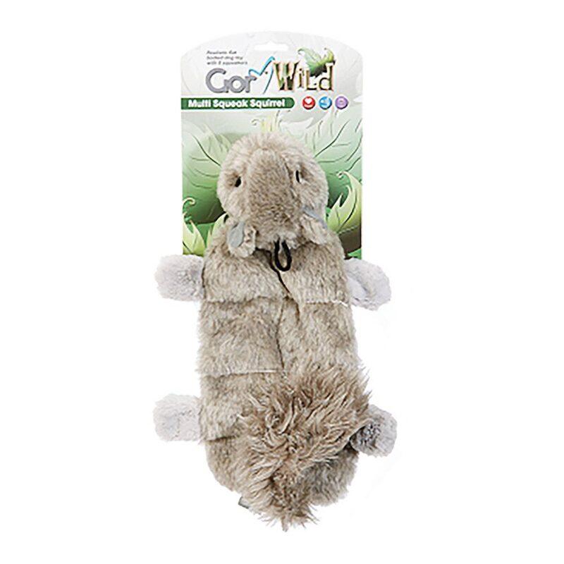 Gor Wild Multi-squeak Squirrel Dog Toy