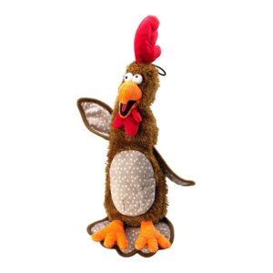 House of Paws Brown Chicken Dog Toy with Tennis Balls Stuffing - Small