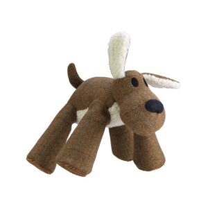 House of Paws Brown Tweed Big Paws Dog Squeaky Dog Toy
