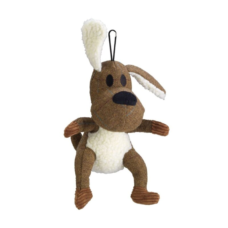 House of Paws Brown Tweed Dog Squeaky Dog Toy