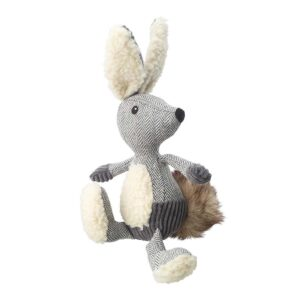 House of Paws Bushy Tail Tweed Hare Dog Toy
