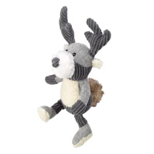 House of Paws Bushy Tail Tweed Stag Dog Toy