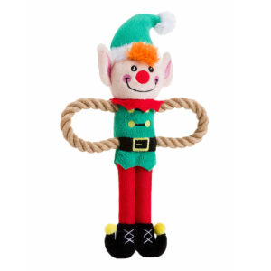 House of Paws Christmas Elf Rope Arm Dog Toy