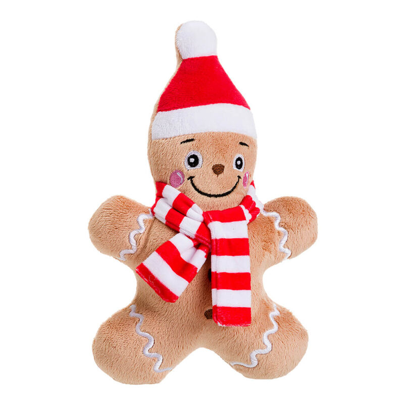 House of Paws Christmas Gingerbread Man Cookie Dog Toy
