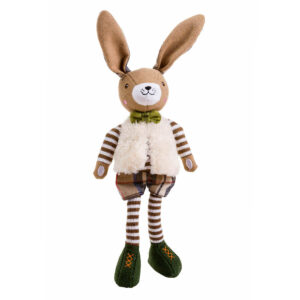 House of Paws Christmas Green Hare Dog Toy