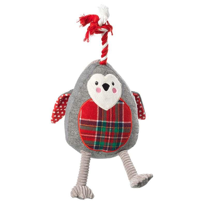 House of Paws Christmas Jumbo Robin Dog Toy