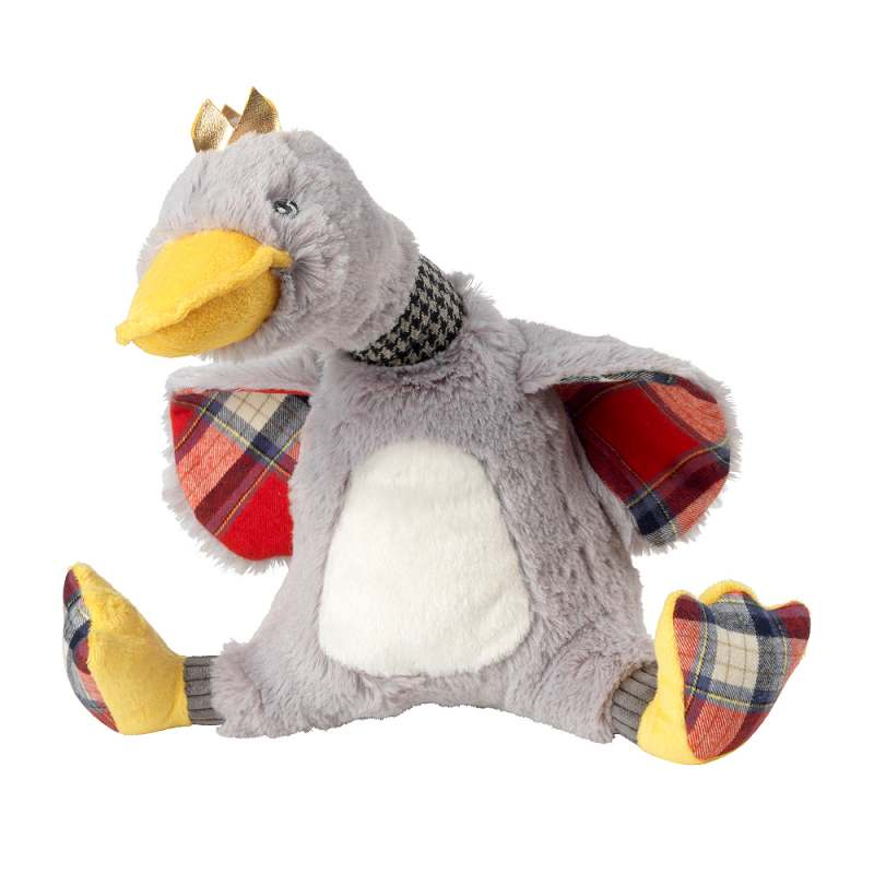 House of Paws Christmas Majestic Crown Plump Plush Goose Dog Toy
