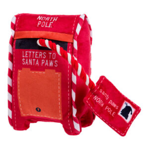 House of Paws Christmas North Pole Post Box Dog Toy