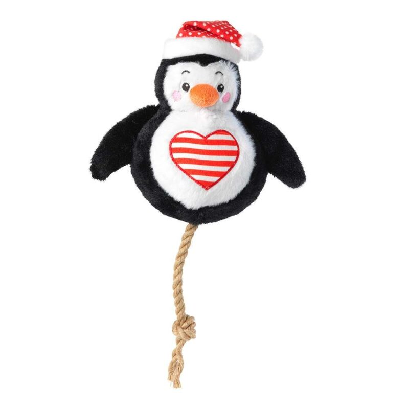 House of Paws Christmas Penguin Snowball Squeaky Dog Toy