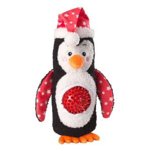 House of Paws Christmas Penguin Spiky Ball Thrower Dog Toy