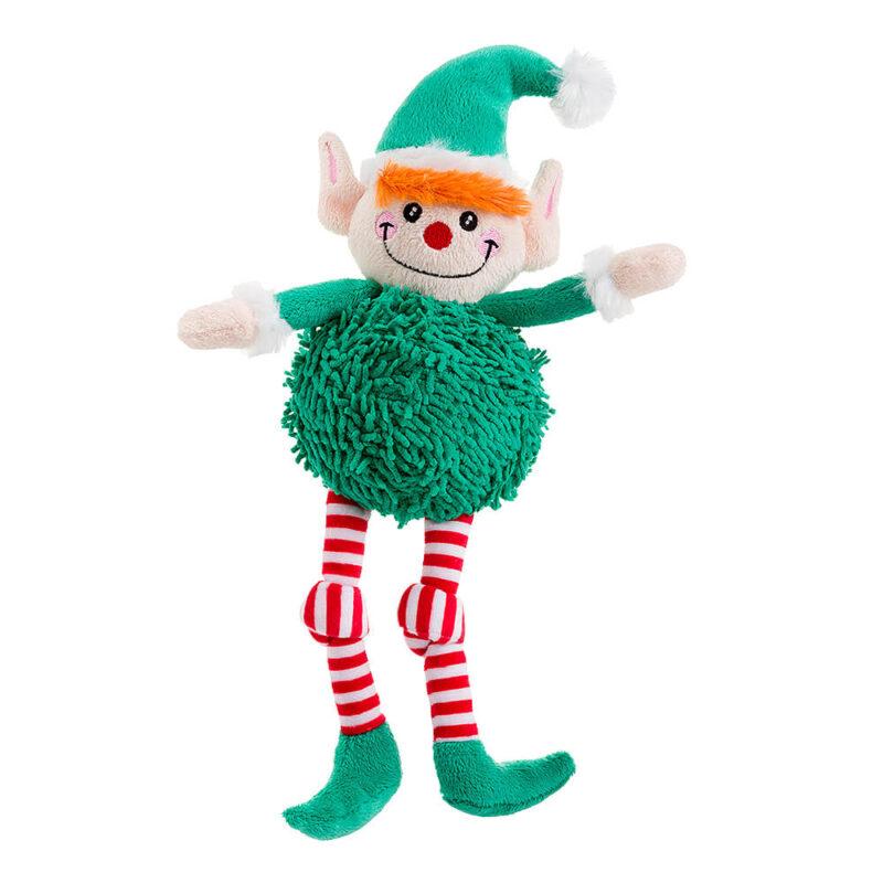 House of Paws Christmas Pom Pom Elf Dog Toy