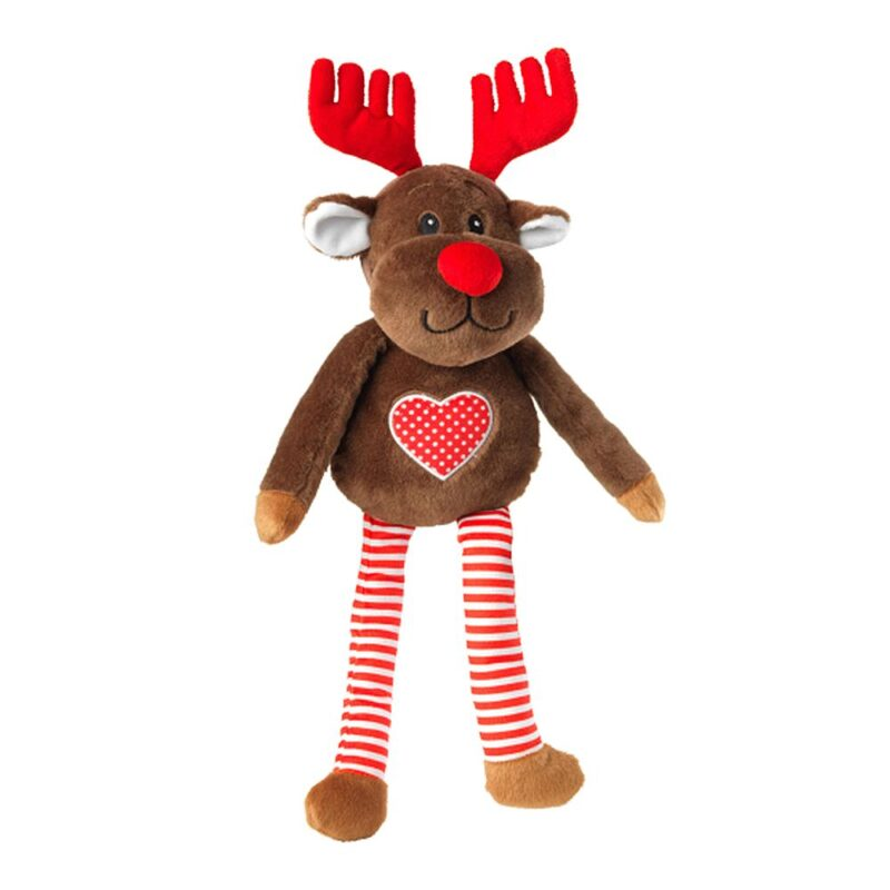 House of Paws Christmas Reindeer and Antlers Squeaky Dog Toy