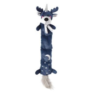 House of Paws Christmas Reindeer Multi Squeaker Starry Night Dog Toy