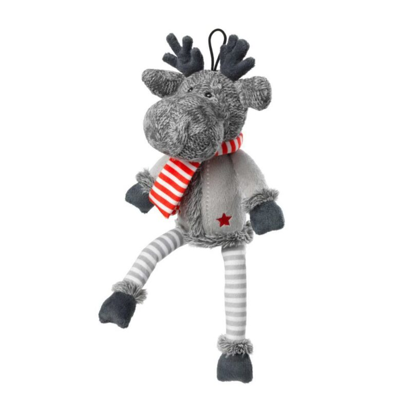 House of Paws Christmas Reindeer Non-Squeaky Dog Toy