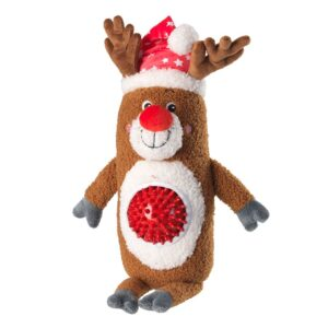 House of Paws Christmas Reindeer Spiky Ball Thrower Dog Toy