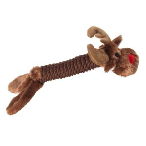 House of Paws Christmas Rope Reindeer Dog Toy