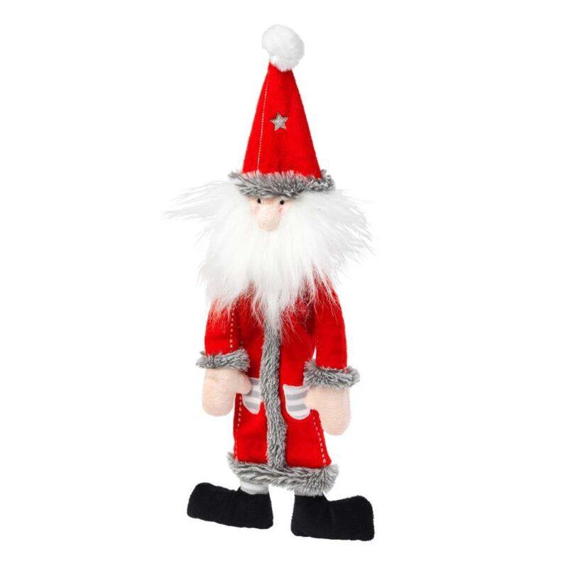 House of Paws Christmas Santa Non-Squeaky Stuffing Free Dog Toy