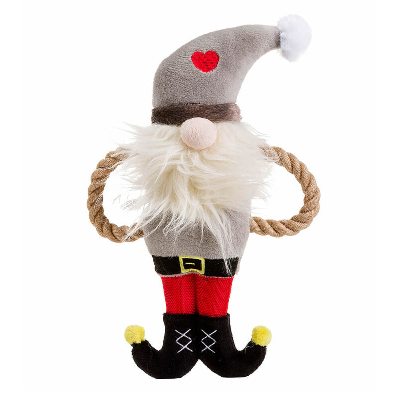 House of Paws Christmas Santa Rope Arm Dog Toy