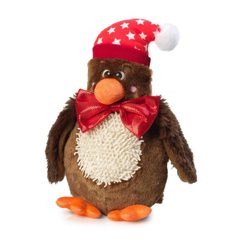 House of Paws Christmas Turkey and Bow Tie Squeaky Dog Toy