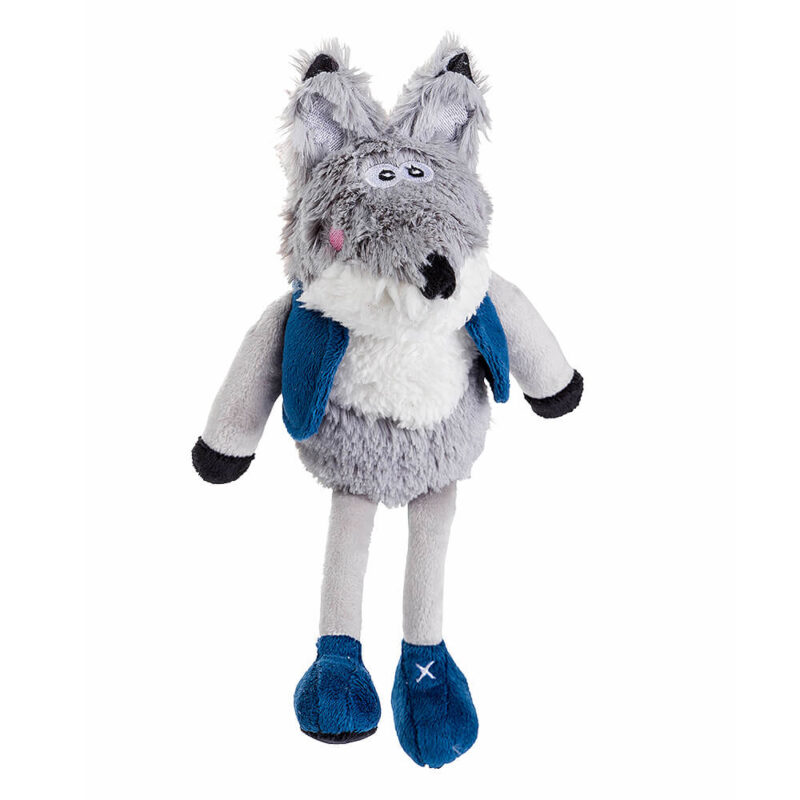 House of Paws Christmas Winter Teal Fox Dog Toy