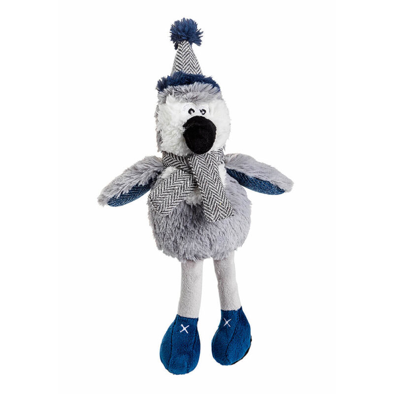 House of Paws Christmas Winter Teal Penguin Dog Toy