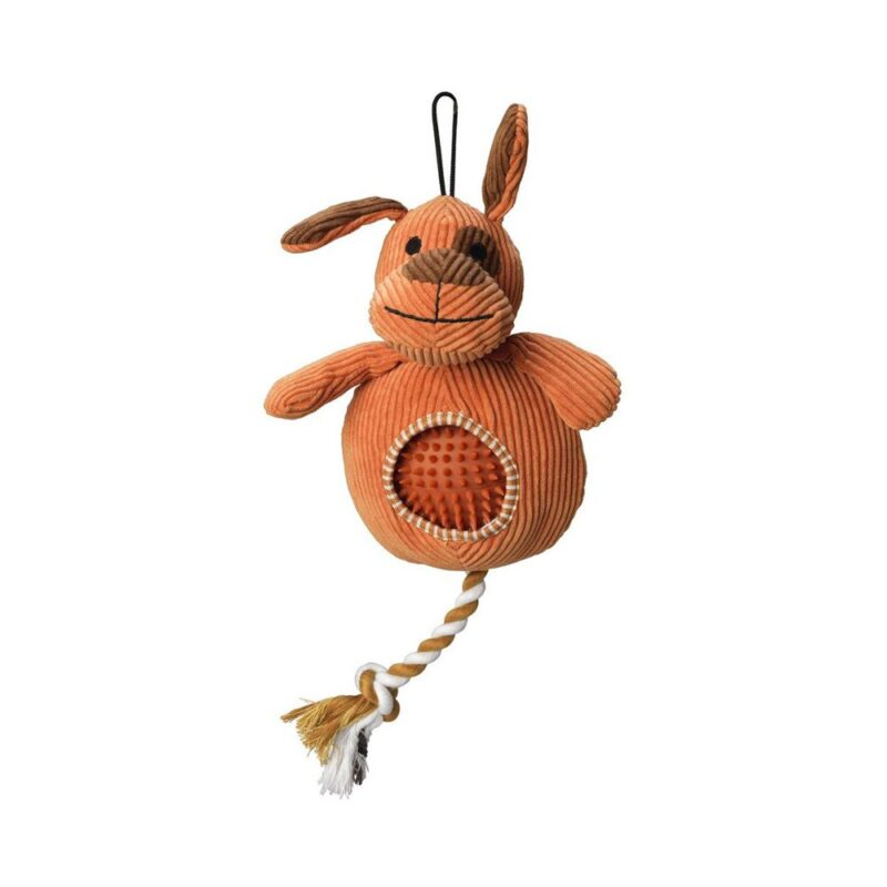 House of Paws Cord Doggy Dog Toy with Spiky Ball