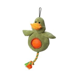House of Paws Cord Duck Dog Toy with Spiky Ball