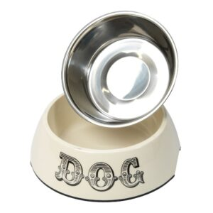 House of Paws Country Kitchen 2 in 1 Dog Bowl - Cream Medium 350ml