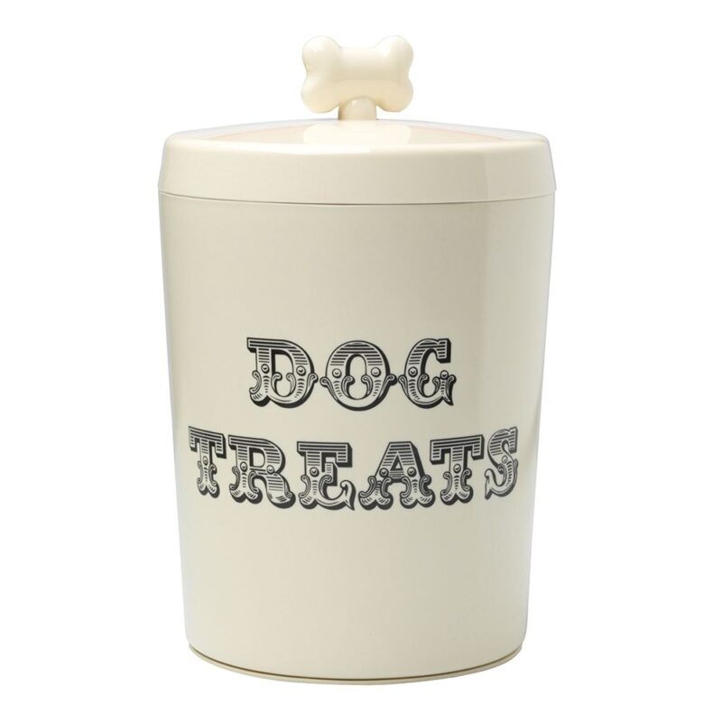 House of Paws Country Kitchen Dog Treat Jar - Cream