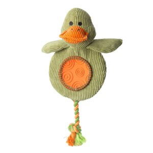 House of Paws Duck Flatty Cord Dog Toy