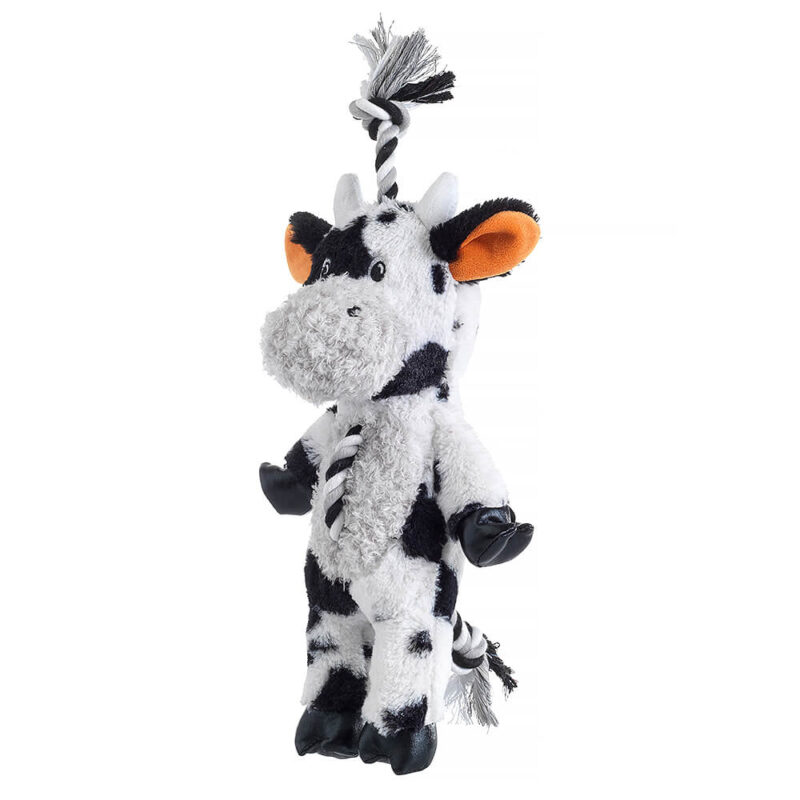 House of Paws Farm Yard Rope Cow Dog Toy