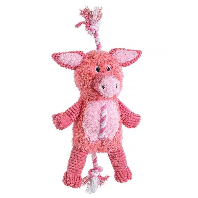 House of Paws Farm Yard Rope Pig Dog Toy
