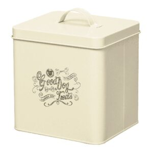 House of Paws Good Dog Treat Storage Tin - Cream Small
