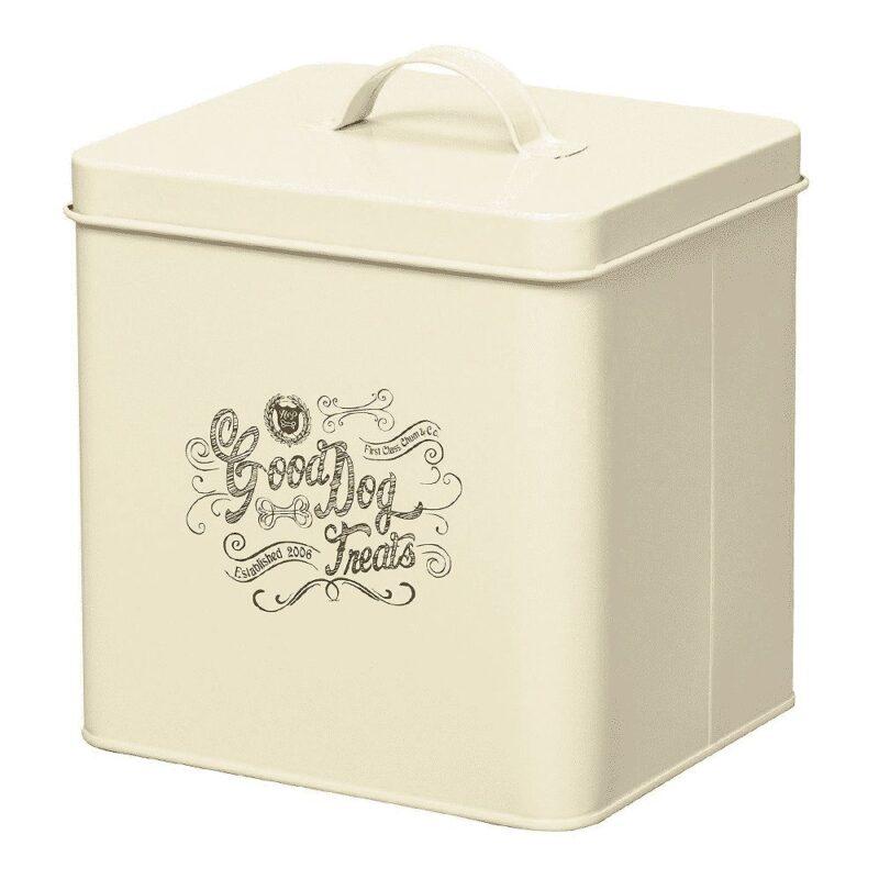 House of Paws Good Dog Treat Storage Tin - Cream Small