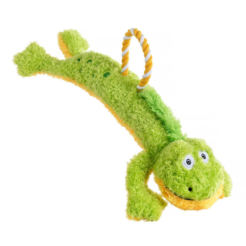 House of Paws Loofa and Rope Dog Toy - Frog