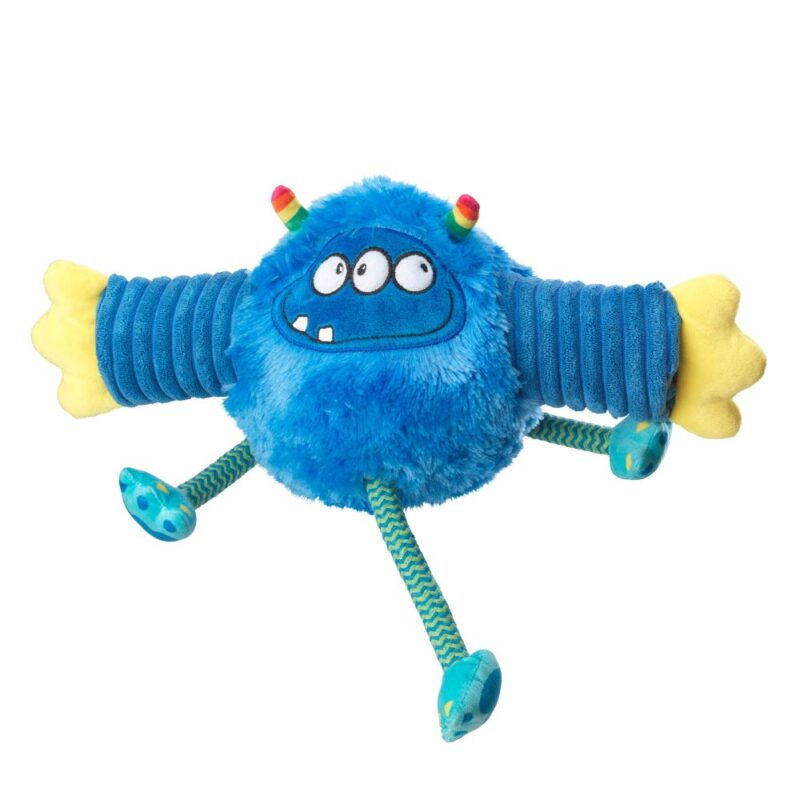 House of Paws Monster Fun Tennis Ball Roller Blue Dog Toy