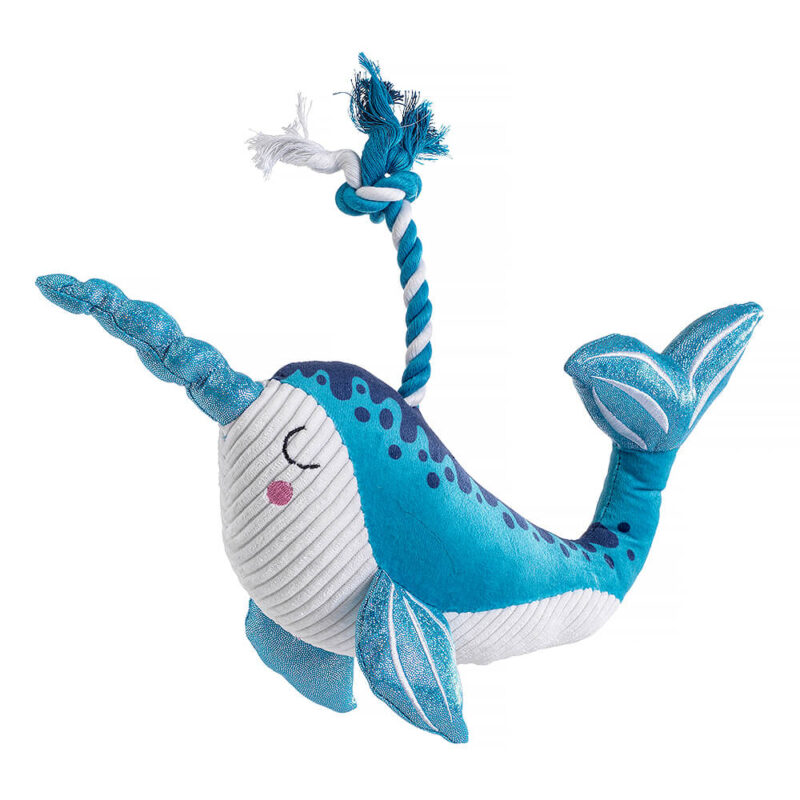 House of Paws Mythical Sea Narwhal Dog Toy