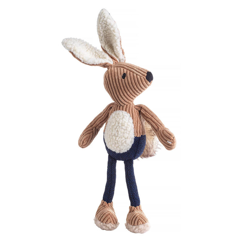 House of Paws Navy Tweed Hare Dog Toy