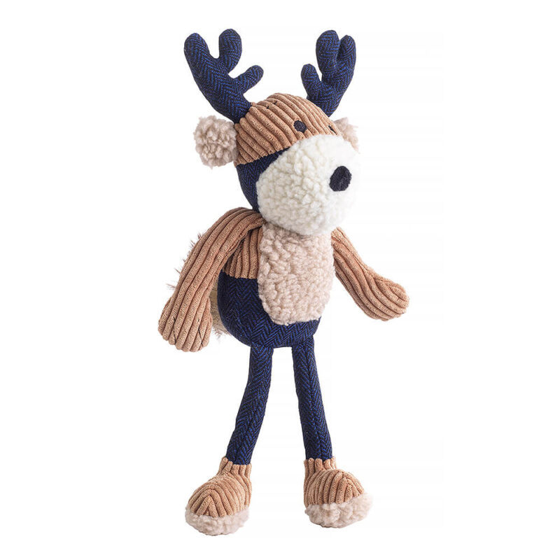 House of Paws Navy Tweed Stag Dog Toy