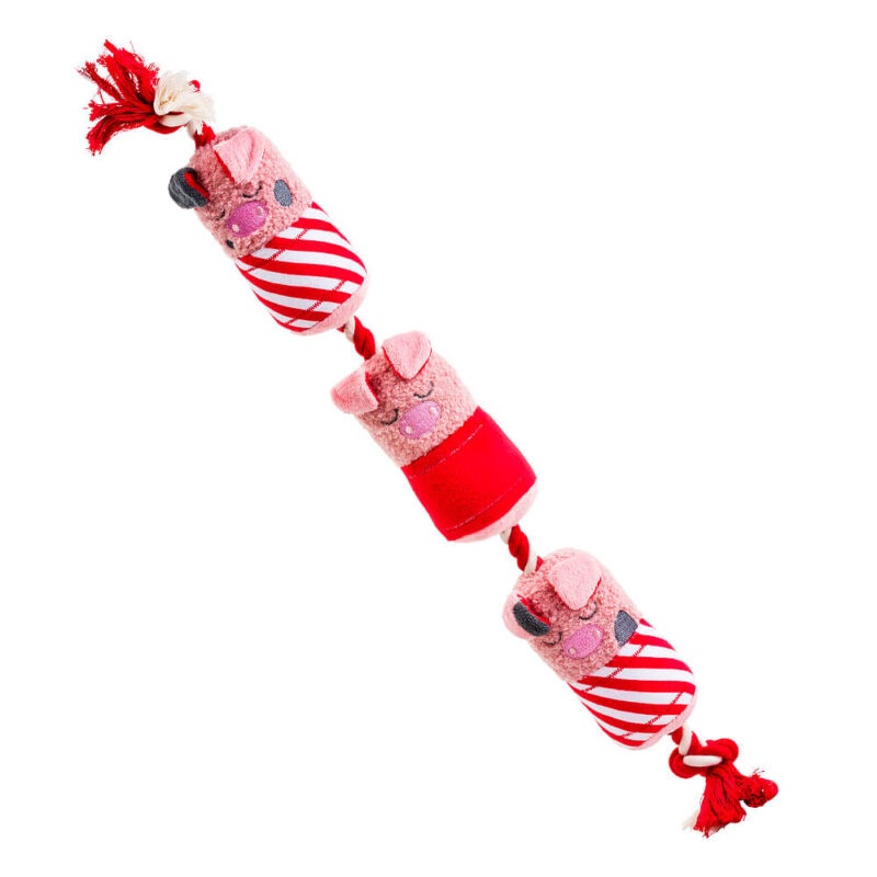 House of Paws Party Animal Christmas Pigs in Blankets Dog Toy