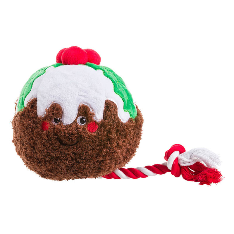 House of Paws Party Animal Christmas Pudding Dog Toy