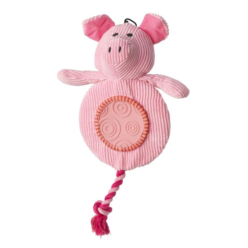 House of Paws Pig Flatty Cord Dog Toy