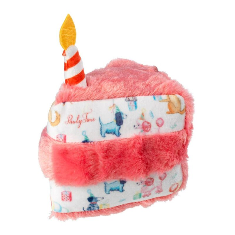 House of Paws Plush Birthday Cake Slice Dog Toy