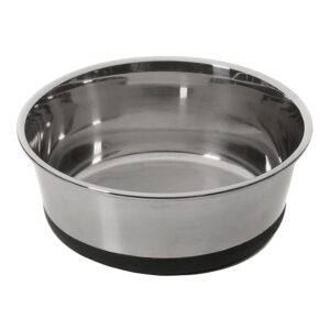 House of Paws Stainless Steel Dog Bowl with Silicone Base - Large 1.9L