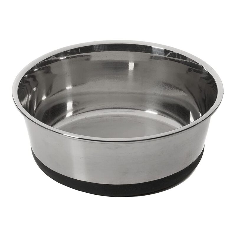 House of Paws Stainless Steel Dog Bowl with Silicone Base - Medium 1L