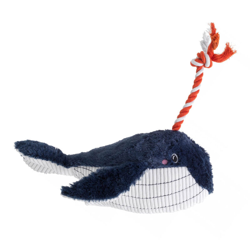 House of Paws Under the Sea Blue Whale Dog Toy