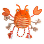 House of Paws Under the Sea Crab Dog Toy