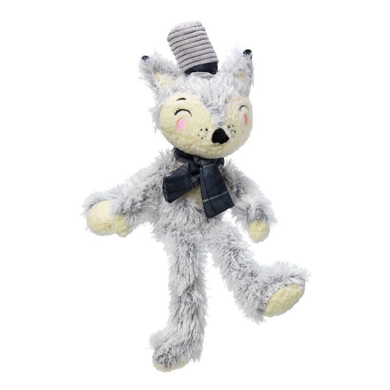 House of Paws Winter Woodland Fox Plush Dog Toy