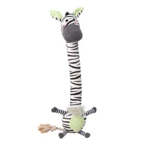 House of Paws Zebra Safari Long Tennis Ball Dog Toy